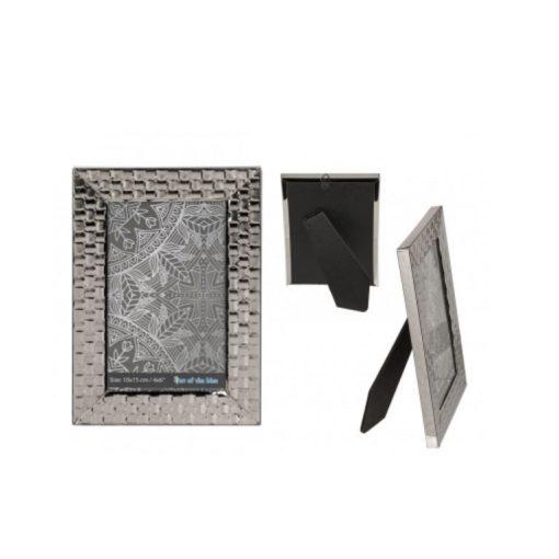 Képkeret Silver square 10*15cm
