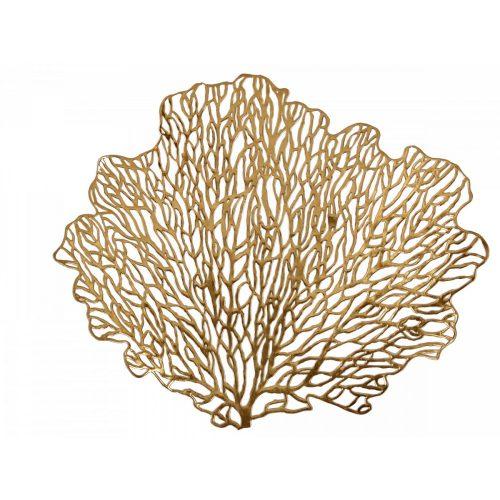 Dekoratív alátét Leaf arany