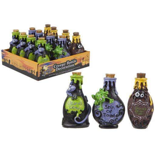 Halloween Creepy italos üveg dekoráció
