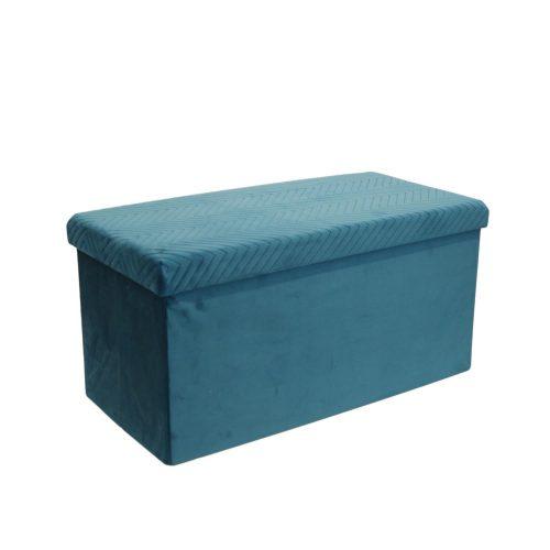Tároló pad Velvet kék