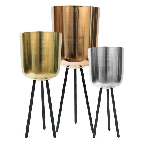 3db-os Copper-Gold-Black kaspó szett