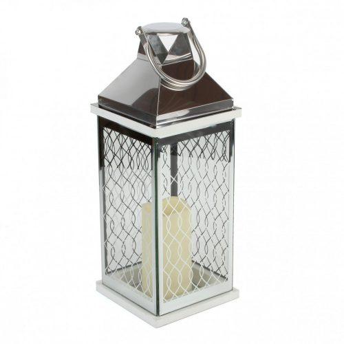 Lámpás Hestia ezüst LED 40cm