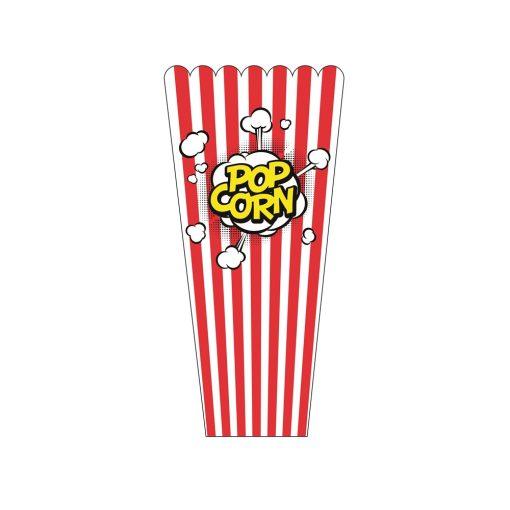 Popcorn kínáló piros szögletes