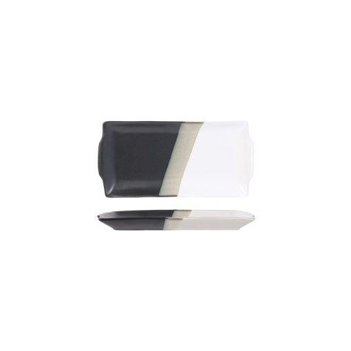 Szervírozó tányér Black-White 15*30cm