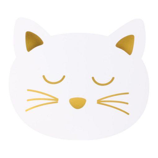 Alátét Cat fehér cica fej