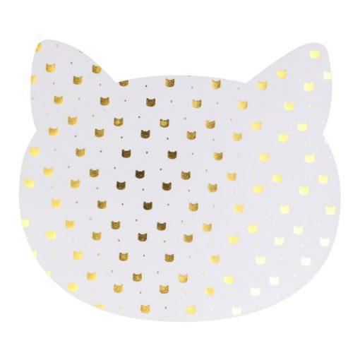 Alátét Cat fehér apró cica mintás