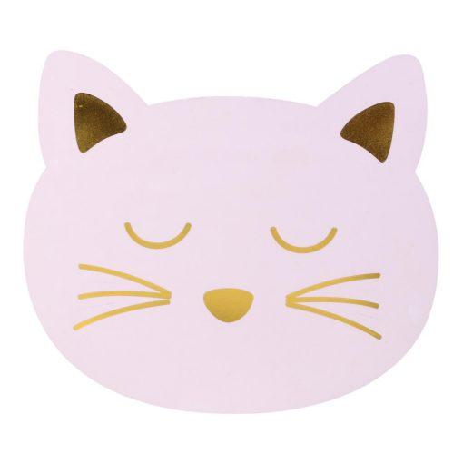 Alátét Cat rózsaszín cica fej