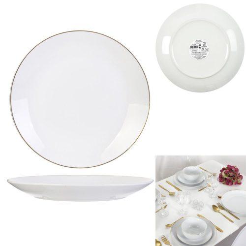 Lapos tányér White arany szegéllyel