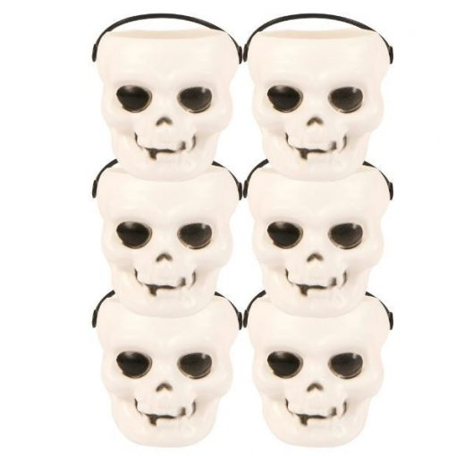 Halloween mini koponyakosár szett 6db-os