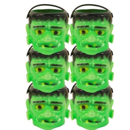 Halloween mini zöld fej kosárszett 6db-os