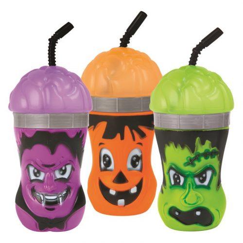 Halloween cup szívószállal