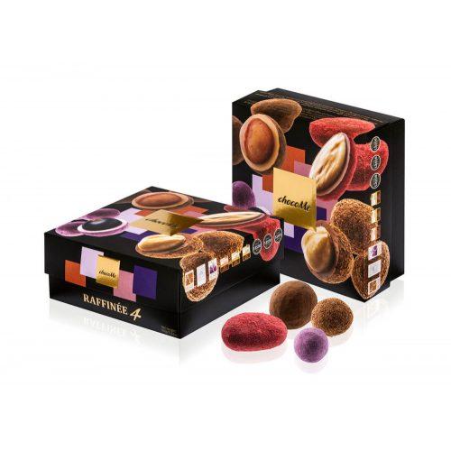 Raffinée válogatás tej-, fehér-, szőke- és ruby csokoládés drazsé válogatás gyümölccsel és magvakkal 160g