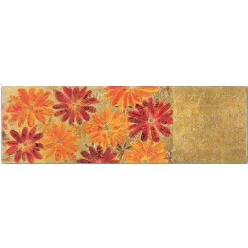 Festmény 50*150 Margherite rosse oro titánium kerettel