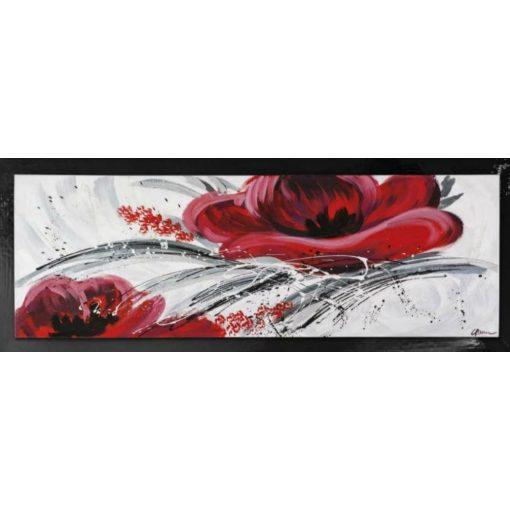 Festmény 50*150 Fiore rosso