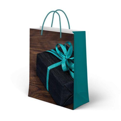 Ajándéktáska Turquoise 26,5*33cm