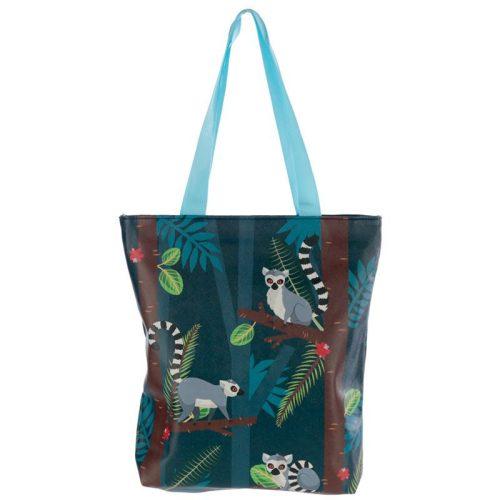 Pamut cipzáros táska Lemur