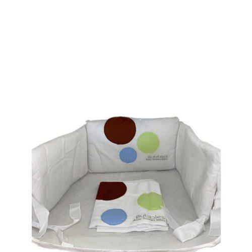 Bubbles 3 részes ágynemű - zöld/barna/kék