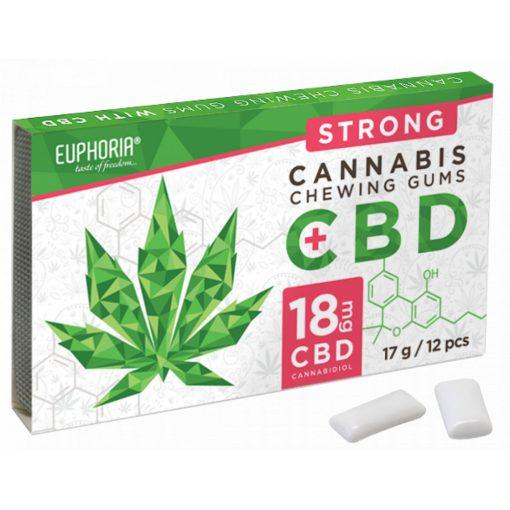 EUPHORIA cannabis rágó 18mg CBD-vel