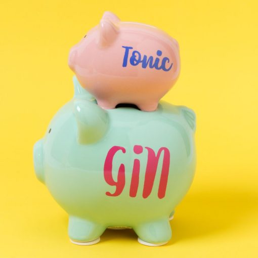 Persely kerámia malac - Gin&Tonic