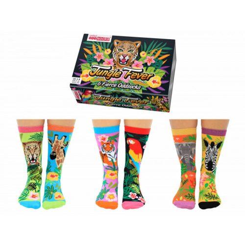 Oddsocks 6db-os zokni szett Jungle fever