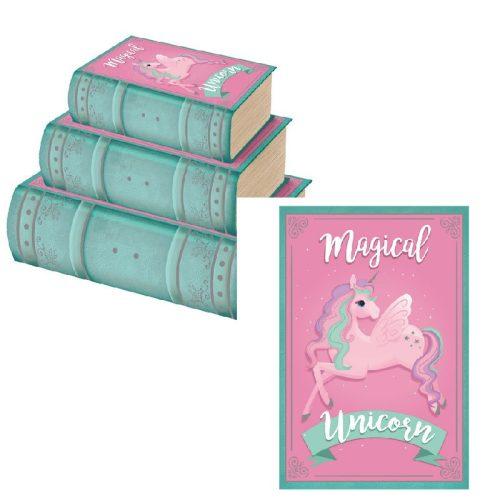 Könyvdoboz Unicorn kicsi