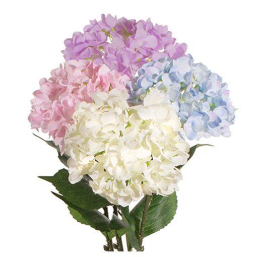 Dekorációs hortenzia szál vegyes színekben