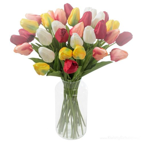 Dekorációs tulipán szál vegyes színekben