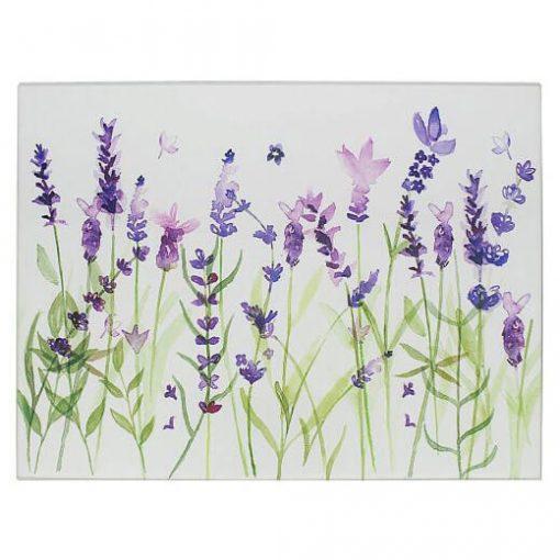 Üveg vágódeszka Lavender