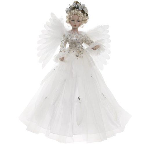 Mozgó angyaldekoráció fehér