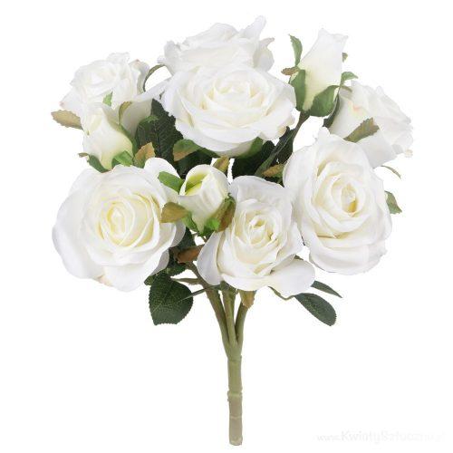 Rózsacsokor 10 fejjel fehér