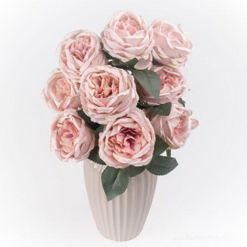 Bazsarózsa csokor 9 virággal pink