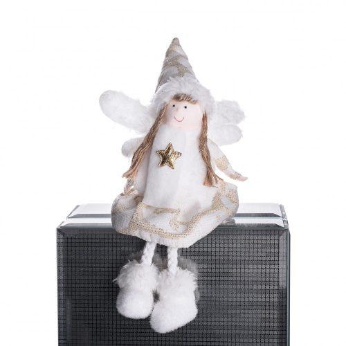 Ülő angyalka krém csillaggal