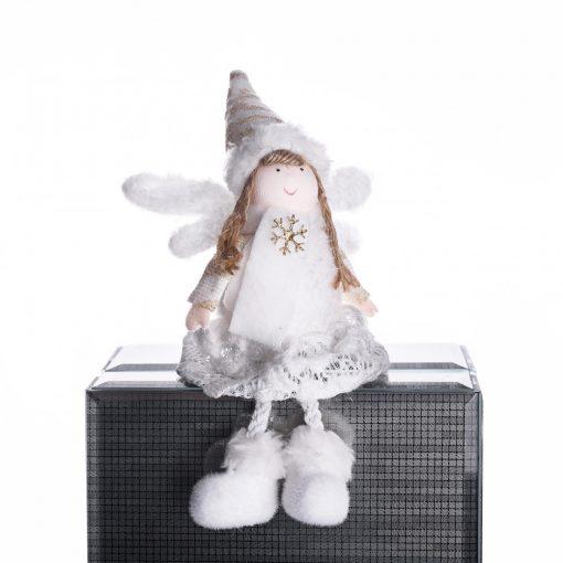 Ülő angyalka krém hópihével