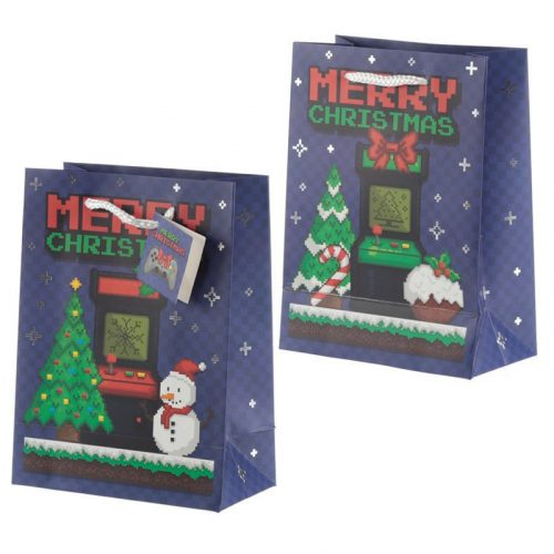 Ajándéktáska Christmas game over 23*17*9cm