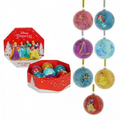 7db-os Disney Princess karácsonyfadísz